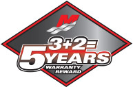 3 + 2 = 5 Year Limited Warranty