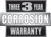 Three Year Corrosion Warranty